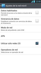 LG Optimus L9 - Red - Seleccionar el tipo de red - Paso 8
