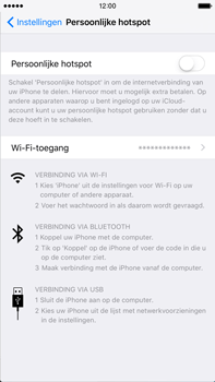 Apple iPhone 6s Plus met iOS 9 (Model A1687) - WiFi - Mobiele hotspot instellen - Stap 6