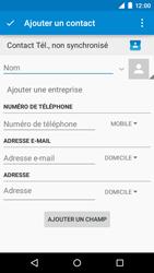 Motorola Moto E (1st Gen) (Lollipop) - Contact, Appels, SMS/MMS - Ajouter un contact - Étape 5