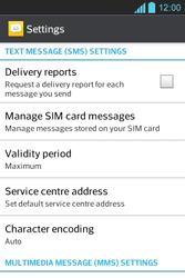 LG E610 Optimus L5 - SMS - Manual configuration - Step 4