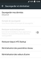 HTC U Play - Aller plus loin - Restaurer les paramètres d'usines - Étape 5