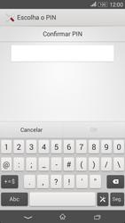 Sony Xperia E4 - Segurança - Como ativar o código de bloqueio do ecrã -  9