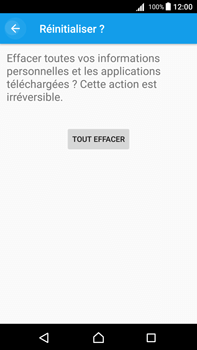Sony Xperia Z5 Premium (E6853) - Android Nougat - Appareil - Réinitialisation de la configuration d