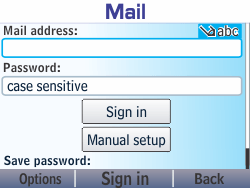 Nokia Asha 210 - Email - Manual configuration - Step 6