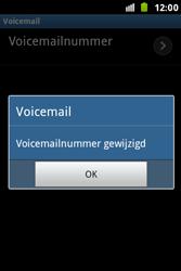 Samsung S7500 Galaxy Ace Plus - Voicemail - handmatig instellen - Stap 9