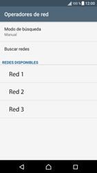 Sony Xperia X - Red - Seleccionar una red - Paso 10
