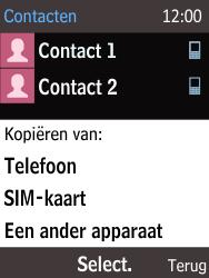 Nokia 216 - Contacten en data - Contacten kopiëren van toestel naar SIM - Stap 6