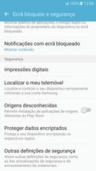Samsung Galaxy S6 Android M - Segurança - Como ativar o código PIN do cartão de telemóvel -  5