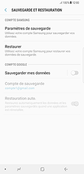 Samsung N950F Galaxy Note 8 - Device maintenance - Back up - Étape 8