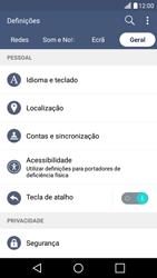 LG K10 4G - Segurança - Como ativar o código PIN do cartão de telemóvel -  5