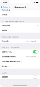 Apple iPhone X - E-mail - Account instellen (IMAP met SMTP-verificatie) - Stap 24