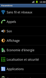 Samsung I9070 Galaxy S Advance - MMS - configuration manuelle - Étape 5