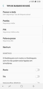 Samsung Galaxy S8 - Android Oreo - Segurança - Como ativar o código de bloqueio do ecrã -  6