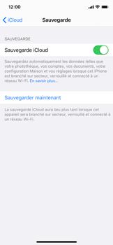Apple iPhone XS - iOS 13 - Données - créer une sauvegarde avec votre compte - Étape 12