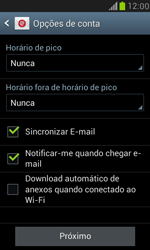 Samsung I8190 Galaxy S III Mini - Email - Como configurar seu celular para receber e enviar e-mails - Etapa 7