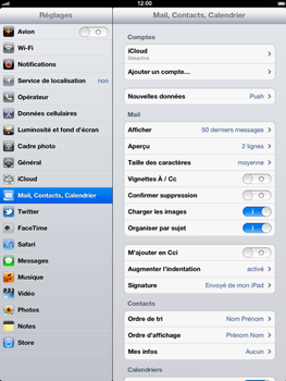 Apple iPad mini - E-mail - Configurer l