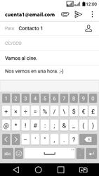 LG K4 (2017) - E-mail - Escribir y enviar un correo electrónico - Paso 10