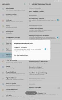 Samsung Galaxy Tab A 10.1 - Android Nougat - Beveiliging en ouderlijk toezicht - Hoe wijzig ik mijn SIM PIN-code - Stap 11