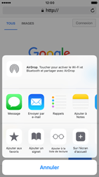 Apple iPhone 6s iOS 10 - Internet - Navigation sur Internet - Étape 5