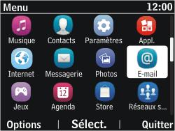 Nokia Asha 302 - E-mail - Configuration manuelle - Étape 3