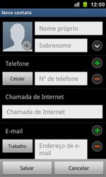 Samsung Galaxy S II - Contatos - Como criar ou editar um contato - Etapa 5