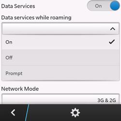 BlackBerry Q10 - Internet - Usage across the border - Step 7
