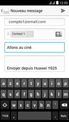 Huawei Ascend Y625 - E-mail - Envoi d