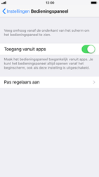 Apple iPhone 7 iOS 11 - iOS 11 - Bedieningspaneel aanpassen - Stap 4