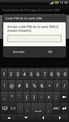 HTC One S - Sécuriser votre mobile - Personnaliser le code PIN de votre carte SIM - Étape 7