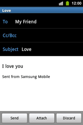 Samsung S5830i Galaxy Ace i - Email - Sending an email message - Step 10