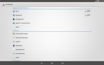 Sony Xperia Tablet Z2 4G (SGP521) - WiFi - Handmatig instellen - Stap 4