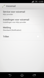 Sony D5803 Xperia Z3 Compact - Voicemail - handmatig instellen - Stap 7