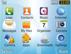 Samsung S3350 Chat 335 - Voicemail - Manual configuration - Step 3