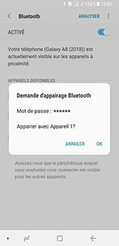 Samsung Galaxy A8 (2018) - Bluetooth - connexion Bluetooth - Étape 10