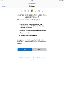Apple iPad mini 4 iOS 10 - E-mail - Configuration manuelle (outlook) - Étape 7