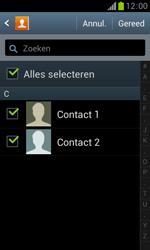 Samsung S7560 Galaxy Trend - Contacten en data - Contacten kopiëren van toestel naar SIM - Stap 8