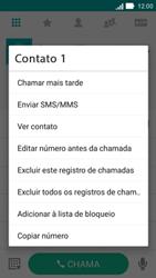 Asus Zenfone 2 - Chamadas - Como bloquear chamadas de um número específico - Etapa 5