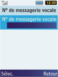 Samsung C3350 Xcover 2 - Messagerie vocale - configuration manuelle - Étape 9
