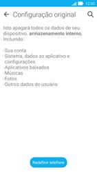 Asus Zenfone 2 - Funções básicas - Como restaurar as configurações originais do seu aparelho - Etapa 6