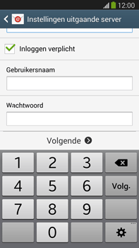 Samsung N9005 Galaxy Note III LTE - E-mail - Account instellen (POP3 met SMTP-verificatie) - Stap 13