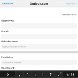 BlackBerry Passport - E-mail - Handmatig instellen - Stap 7