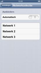 Apple iPhone 5 - Netwerk - Handmatig een netwerk selecteren - Stap 5