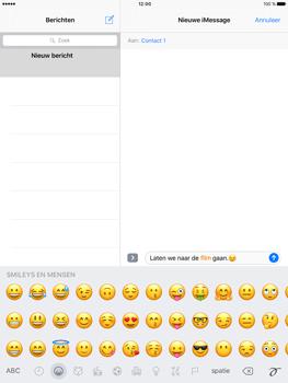 Apple iPad Pro 9.7 - iOS 10 - iOS features - Stuur een iMessage - Stap 14