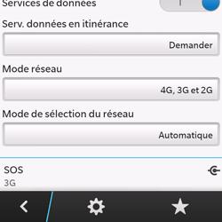 BlackBerry Q10 - Internet et connexion - Activer la 4G - Étape 8