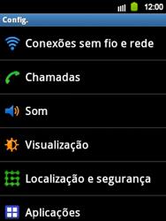Samsung Galaxy Y - Rede móvel - Como ativar e desativar roaming de dados no seu celular - Etapa 4