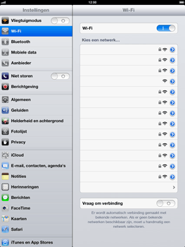 Apple iPad 4 - WiFi - Handmatig instellen - Stap 6