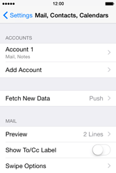 Apple iPhone 4s iOS 8 - Email - Manual configuration - Step 17