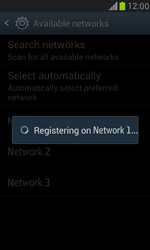 Samsung I8190 Galaxy S III Mini - Network - Manually select a network - Step 10