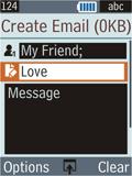 Samsung B2100 Xplorer - E-mail - Sending emails - Step 10