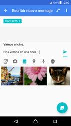 Sony Xperia X - Mensajería - Escribir y enviar un mensaje multimedia - Paso 14